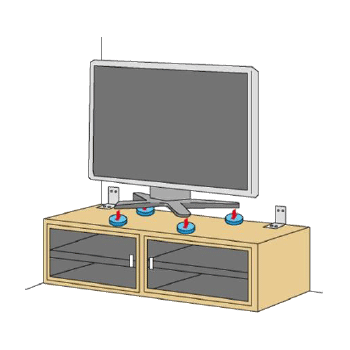 テレビの固定例